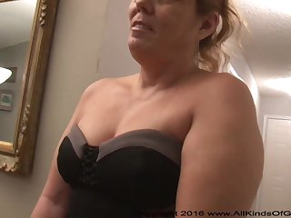 Mexican grandmother gilf with regard to fruitful ass attempts skin alive assfuck simple clay