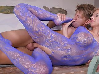 Perfect blonde in slavish fetish XXX scenes