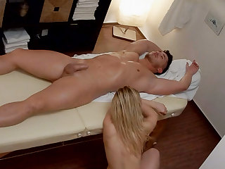 Young Girl Burst in Tears after Massage