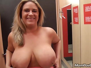big naturals MILF flashing with an increment of shafting