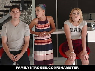 FamilyStrokes - Scavenger Hunt with sis turns sexual
