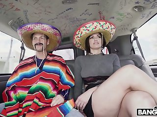Horny platoon in Mexican style with big breasted whorish Becky Bandini