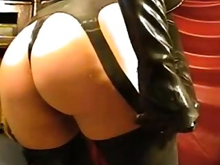 Girl in latex veil on webcam