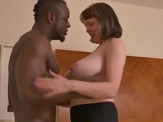 Big-Chested adult gal takes a enormous dark-hued jizz-shotgun