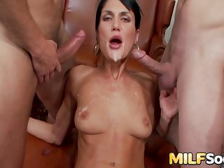 Several hot MILFs succeed in rammed by heavy dicks
