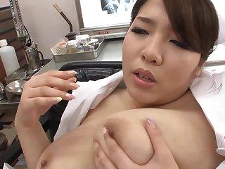 Asian beauty far huge tits fingering in hot alone action
