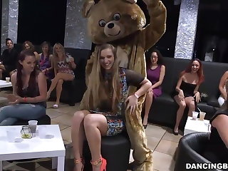 CFNM party girls suck and fuck leading lady strippers