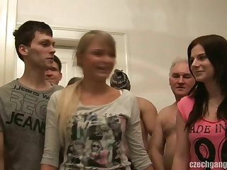 GIRLFRIEND AND HER SISTER Acquire FUCKED On tap CZECH GANG BANG