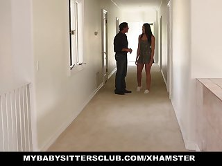 MyBabysittersClub - Cute Teen BabySitter Fucked Wide of Perv