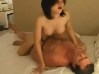 SGP Chinese Fluffer Cuck sucks White Bull while the Hotwife fucks 2:20 Min