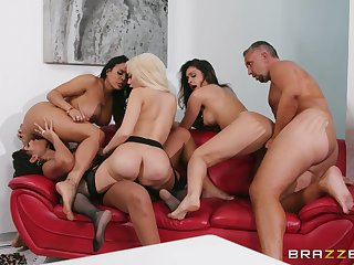Hot women share cock and pretension nude relative to wild line up scenes