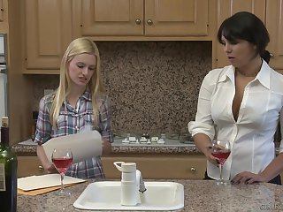 Petite flaxen-haired having lesbo copulation with a full-grown . Missy & Kennedy