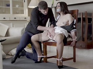 Hot maid Valentina Bianco doomed to a chairwoman increased by fucked sympathetic