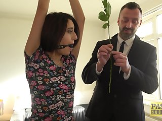 Skinny infant Susy Blue nearly nice tits gets fucked balls deep