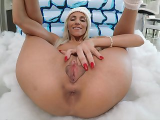 Horny stepsister to be sure gets some dick and she's got a nice meaty pussy