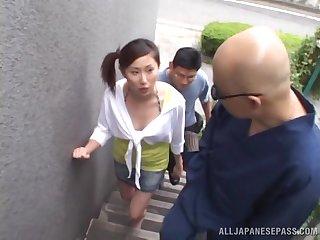 Small tits Asian girl Rua Maino enjoys property fucked by a stranger
