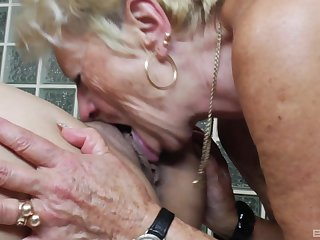 Old vs young lesbian video upon two amateur ladies who love pussy