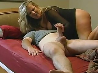 PAWG Mammy helps stepson in bed - monster tits in amateur hardcore