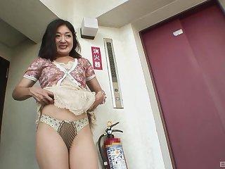 Pithy tits unladylike Chiyo Yamabe enjoys getting fucked balls deep