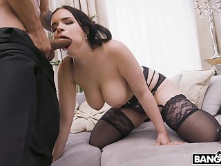 gaffer MILF gags a little onwards working hammer away huge dong on every side her soaked cunt