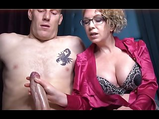 Domme T is a horny, platinum-blonde female about a satin tee-shirt who enjoys to give libidinous handjobs